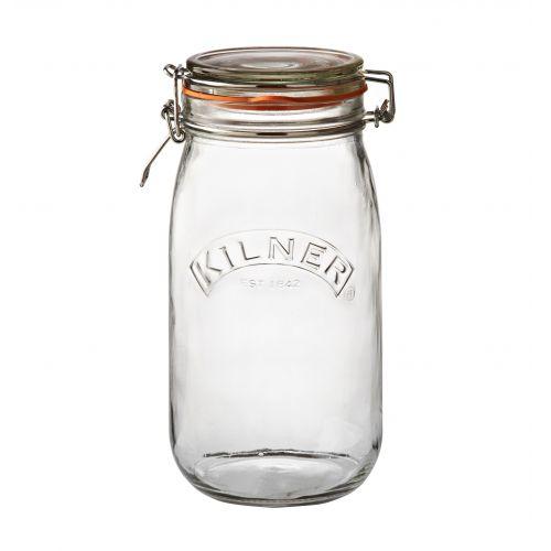 KILNER / Okrúhly zavárací pohár s klipsou 1,5 l