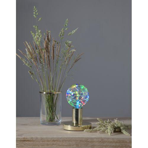 STAR TRADING / Dekoratívna LED žiarovka Twinkling RGB