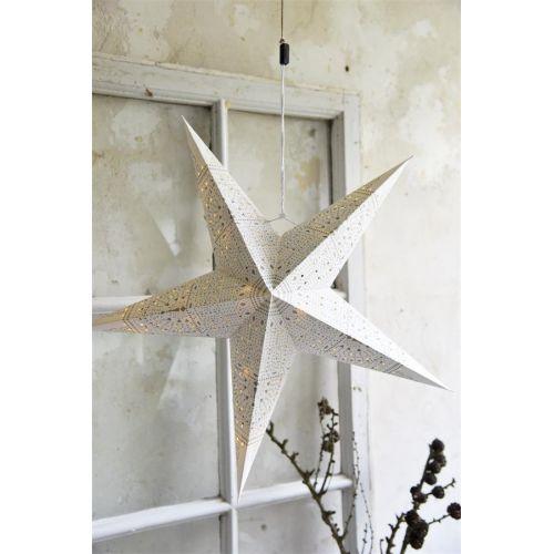 Jeanne d'Arc Living / Závěsná svítící hvězda s LED žárovkami Pattern 50cm