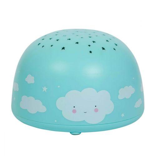 A Little Lovely Company / Dětská LED lampička s projektorem noční oblohy Cloud