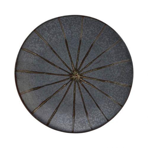 House Doctor / Kameninový dezertný tanier Suns Dark Brown