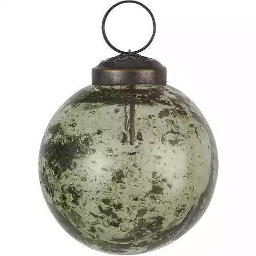 IB LAURSEN / Vianočná ozdoba Pebbled Glass Green 8cm
