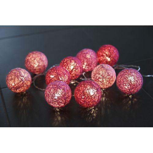 STAR TRADING / Svetelná lampionová reťaz Jolly Pink