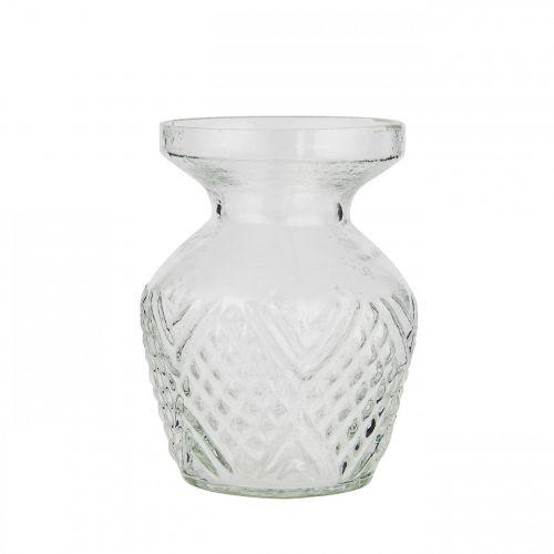 IB LAURSEN / Sklenená váza Pattern Clear Wide