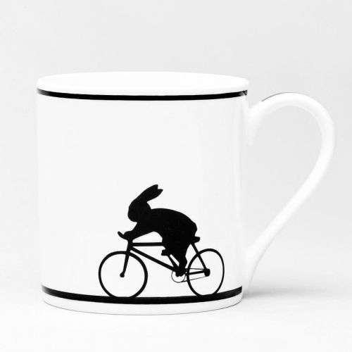 HAM / Porcelánový hrnček Cycling Rabbit