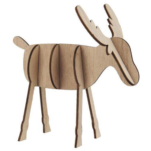 IB LAURSEN / Dekoratívny drevený sob Natural 13 cm