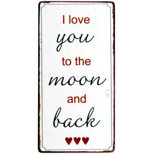 IB LAURSEN / Magnetka I Love You To The Moon 10x5cm