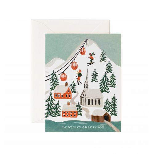 Rifle Paper Co. / Vianočné prianie s obálkou Snow Scene