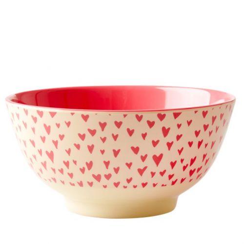 rice / Melamínová miska Pink Hearts
