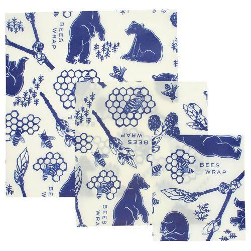 Bee's Wrap / Ekologické potravinové obrúsky Bees & Bears - set 3 ks
