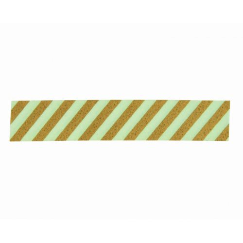 MADAM STOLTZ / Dizajnová samolepiaca páska Stripe Pistachio/gold
