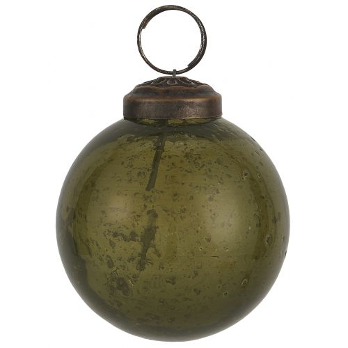 IB LAURSEN / Vianočná ozdoba Pebbled Glass Olive