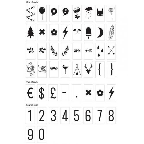 A Little Lovely Company / Set symbolov a číslic pre Lightbox Numbers&Symbols