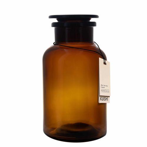 KUISHI / Sklenená dóza s viečkom Amber Apothecary 500 ml