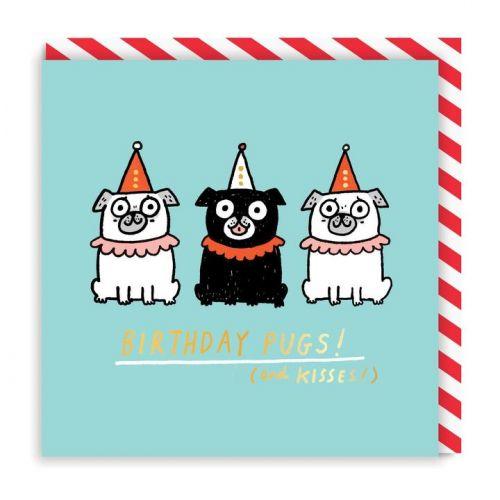 Ohh Deer / Prianie s obálkou Birthday Pugs