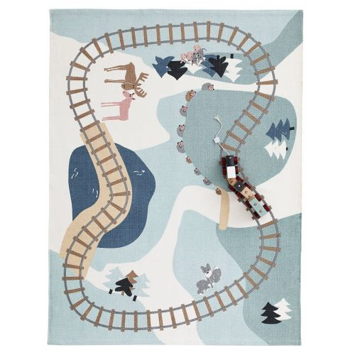 Kids Concept / Detský bavlnený koberec Edvin Woodland 170 x 130 cm