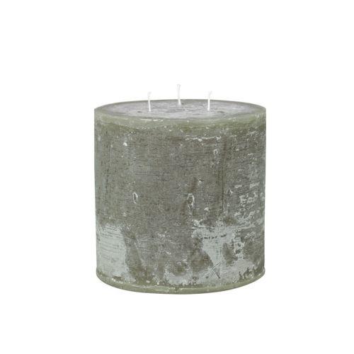 Chic Antique / Okruhla sviečka Macon Rustic Olive 15cm