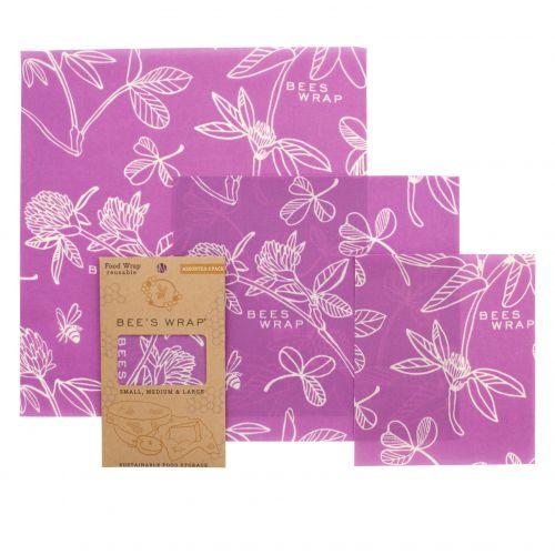 Bee's Wrap / Ekologický potravinový obrúsok Purple-3ks