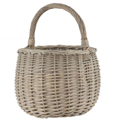 IB LAURSEN / Prútený košík s uchom Grey Willow