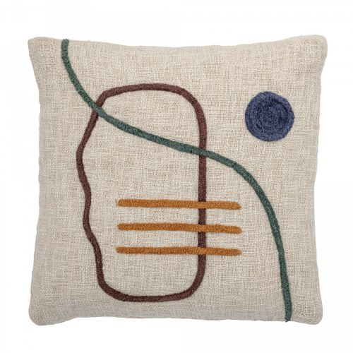 Bloomingville / Bavlnený vankúš Nature Cotton 45×45 cm