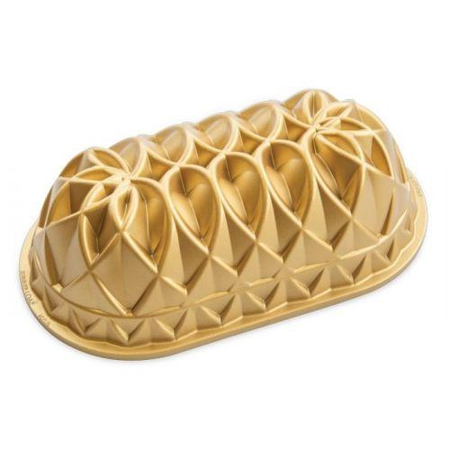 Nordic Ware / Hliníková forma na chlebíček Jubilee Gold