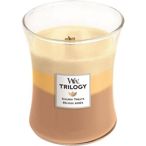 WoodWick / Vonná sviečka WoodWick Trilogy - Golden Treats 275 g
