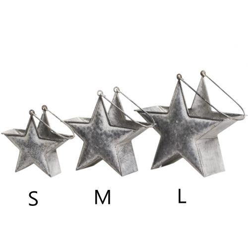 Chic Antique / Zinková dekorácia v tvare hviezdy Grey Strar