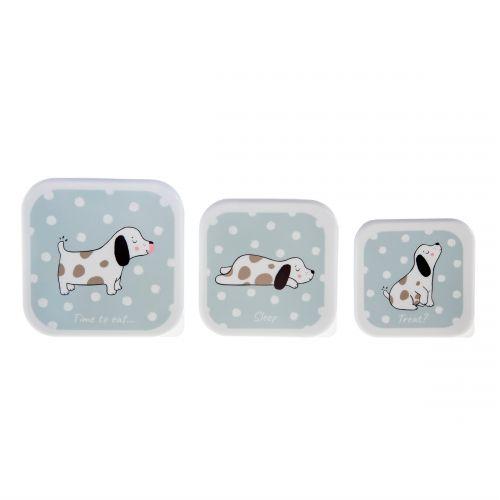 sass & belle / Krabičky na desiatu Barney The Dog - set 3 ks