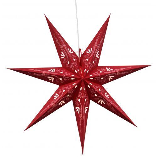 STAR TRADING / Závesná svietiaca hviezda Metasol Red 70 cm