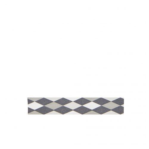 MADAM STOLTZ / Designová samolepící páska Diamond grey/white