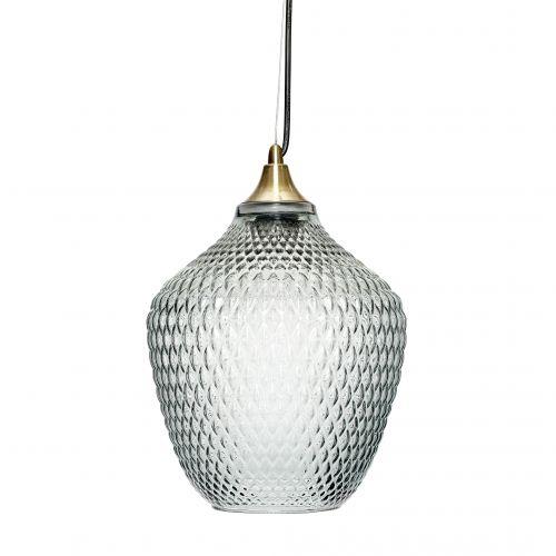 Hübsch / Závesná lampa Brass/Blue