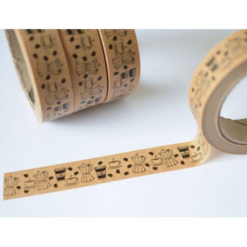 MANKAI Paper / Hnedá papierová páska Káva
