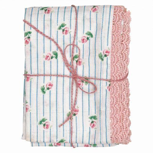 GREEN GATE / Detská bavlnená plienka Lily white - set 3ks