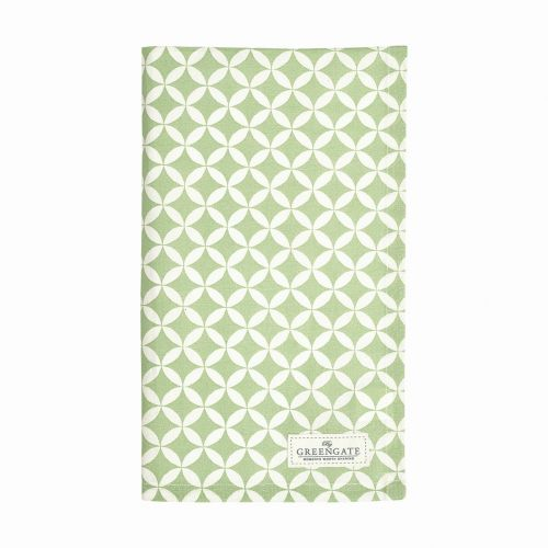 GREEN GATE / Bavlnená utierka Mai Green 50 x 70 cm
