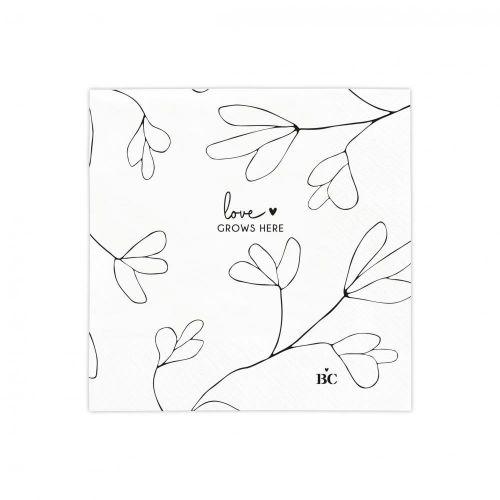 Bastion Collections / Papierové servítky Love Grows Here 20 ks