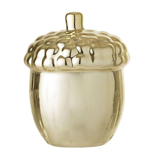 Bloomingville / Porcelánová ozdoba Acorn Gold