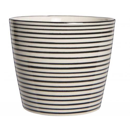 IB LAURSEN / Latte cup Casablanca Black Stripe 200 ml