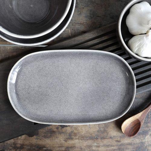 Chic Antique / Servírovací tanier Calais Coal Grey Plate