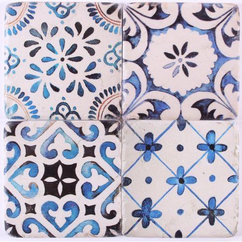 La finesse / Cementové podtácky pod hrnčeky Blue