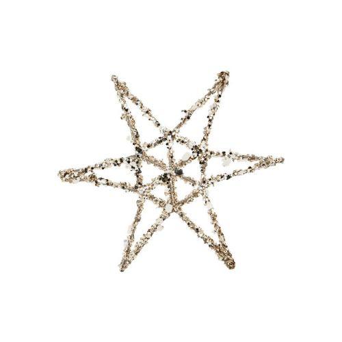 House Doctor / Závesná vianočná dekorácia Star Gold
