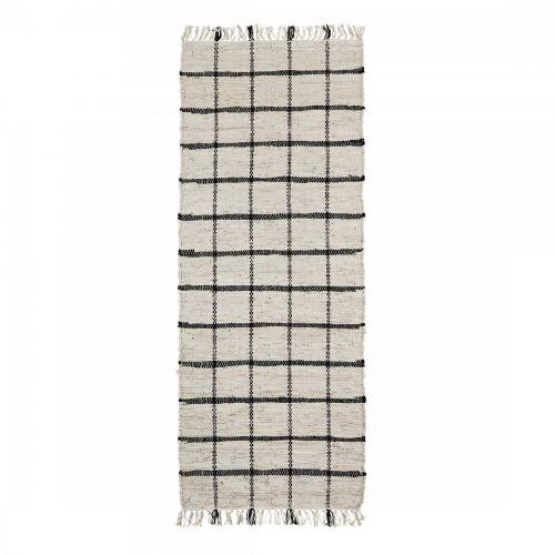 MADAM STOLTZ / Koberec Leather&Cotton 70x200