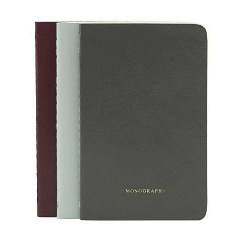 MONOGRAPH / Linkovaný notesík Ruled - sada 3 ks
