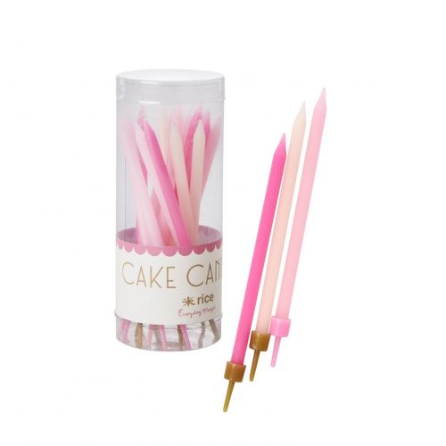 rice / Tortové sviečky Pink - 16ks