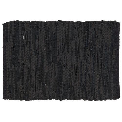 IB LAURSEN / Kožené prestieranie Black 35x48 cm