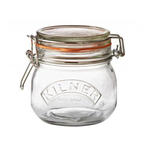 KILNER / Okrúhly zavárací pohár s klipsou 500 ml
