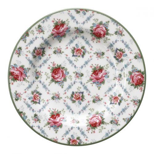 GREEN GATE / Porcelánový tanierik Malene Petit White 15cm