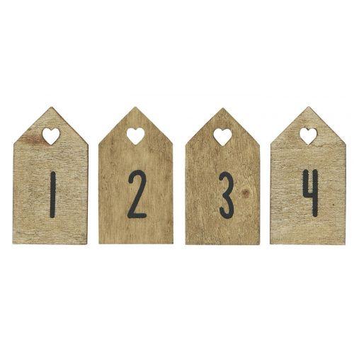 IB LAURSEN / Drevené štítky na adventný veniec Natural - set 4 ks
