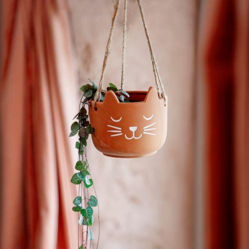 sass & belle / Závesný terakotový obal na kvetináč Cat's Whiskers