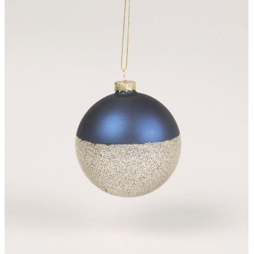 sass & belle / Sklenená ozdoba Blue Metallic