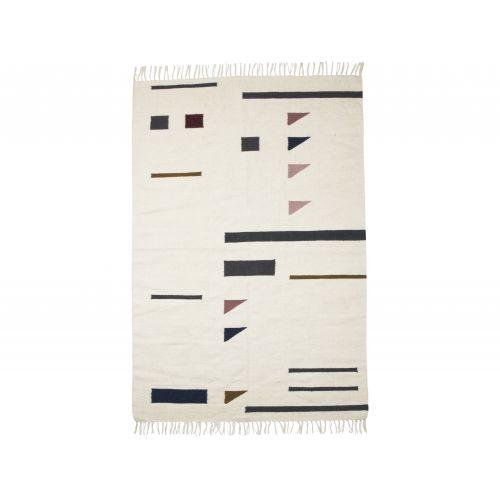 ferm LIVING / Vlnený koberec Kelim Triangles L
